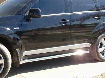 Пороги труба 60 мм Mitsubishi Outlander XL