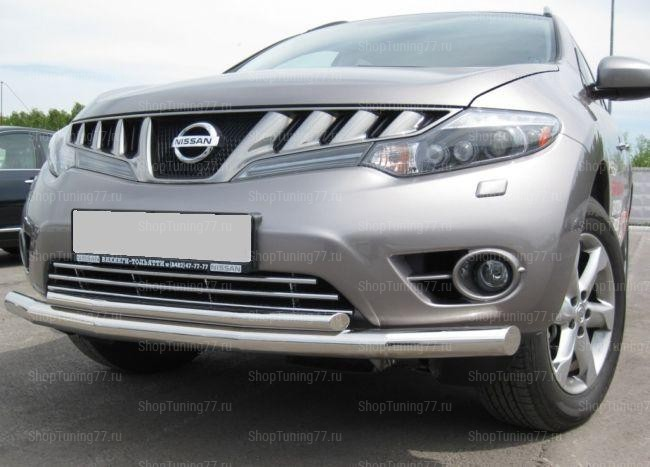 Защита переднего бампера d70 Nissan Murano (2009-)