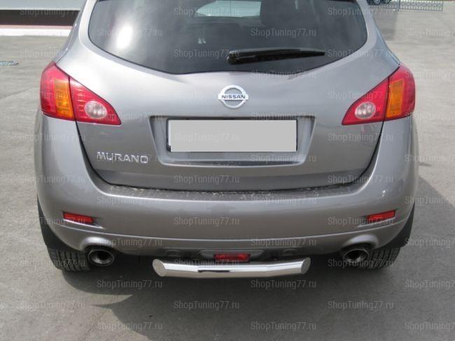 Защита заднего бампера d70 Nissan Murano (2009-)