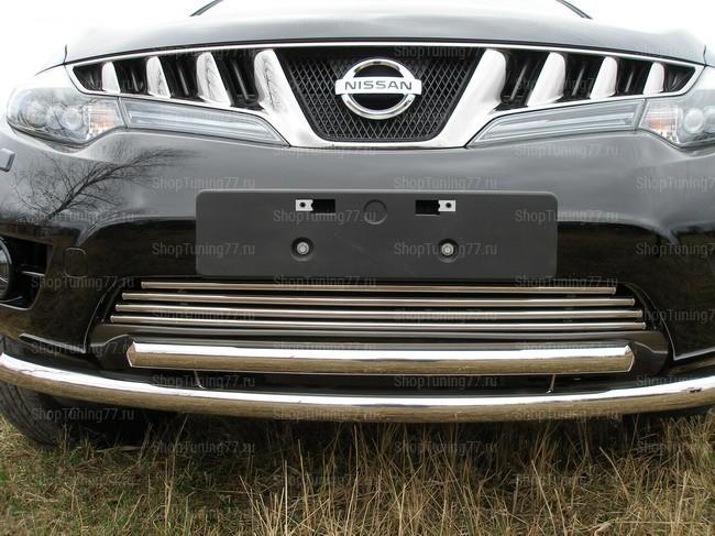 Решетка радиатора 16 мм Nissan Murano (2009-)