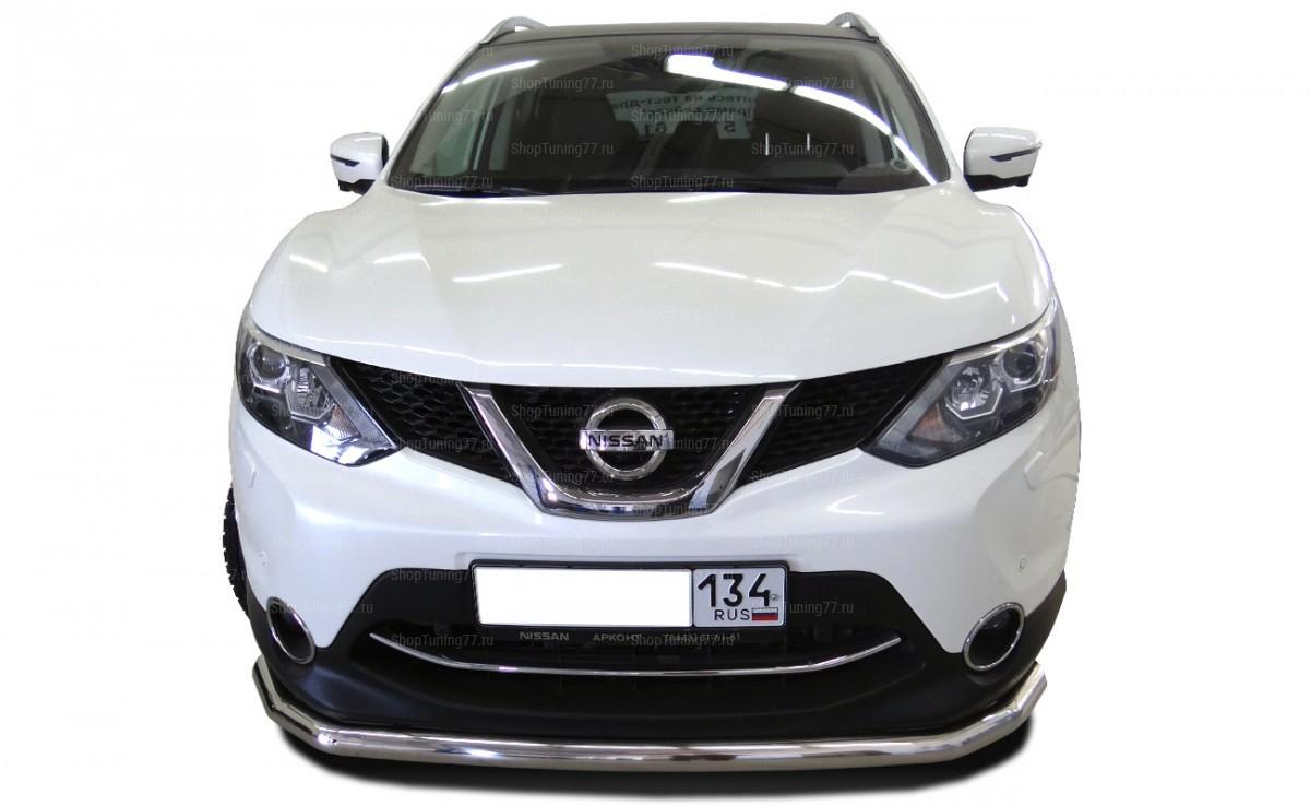 Защита переднего бампера одинарная 60 мм Nissan Qashqai (2014-)