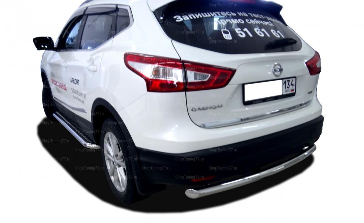 Защита заднего бампера радиус 60 мм Nissan Qashqai (2014-)