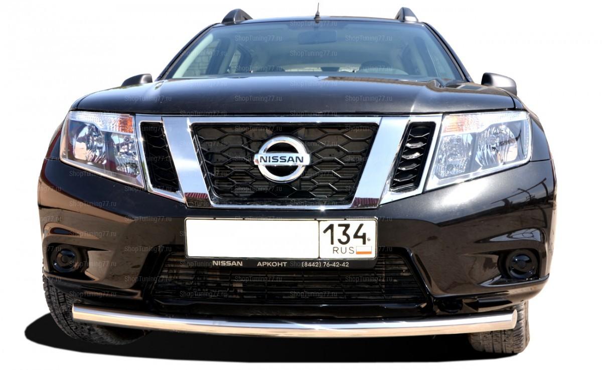 Защита переднего бампера одинарная радиус 60 мм Nissan Terrano (2015-)