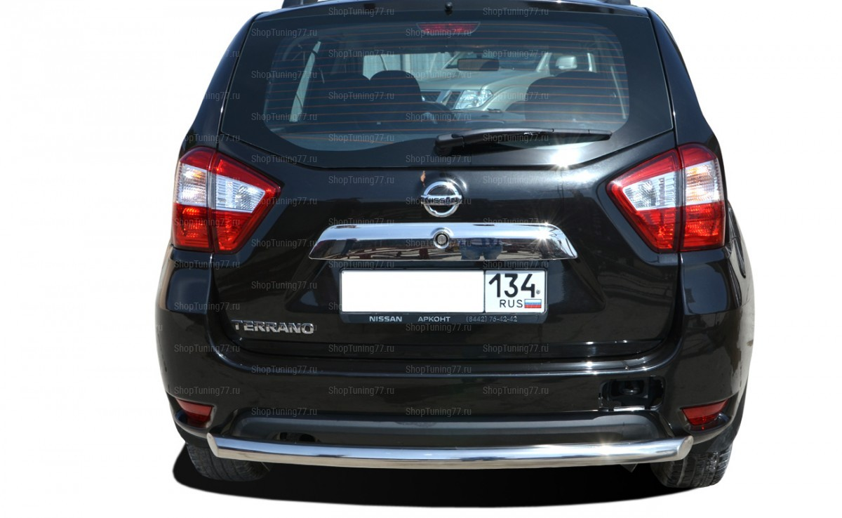 Защита заднего бампера радиус 60 мм Nissan Terrano (2015-)