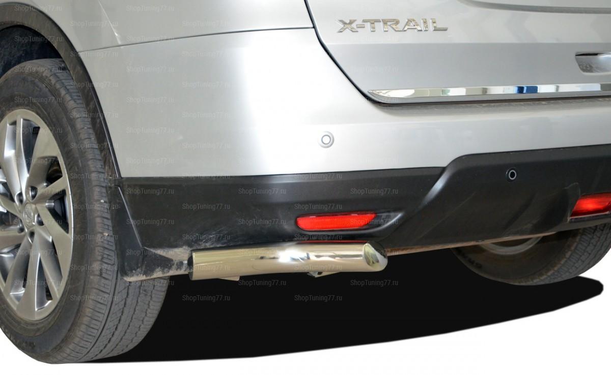Защита заднего бампера угловая 60 мм малая Nissan X-Trail (2015-)