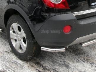 Защита задняя (уголки) 60 мм Opel Antara