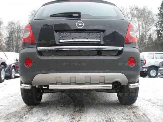 Защита заднего бампера цельная 60 мм Opel Antara