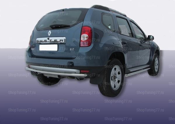 Защита заднего бампера одинарная 60 мм Renault Duster (2011-)