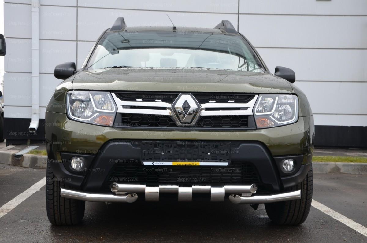Защита переднего бампера Грюндер Renault Duster (2011-)