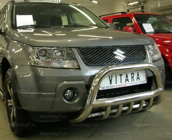 Отбойник с защитой картера 70 мм Suzuki Grand Vitara (2005-)