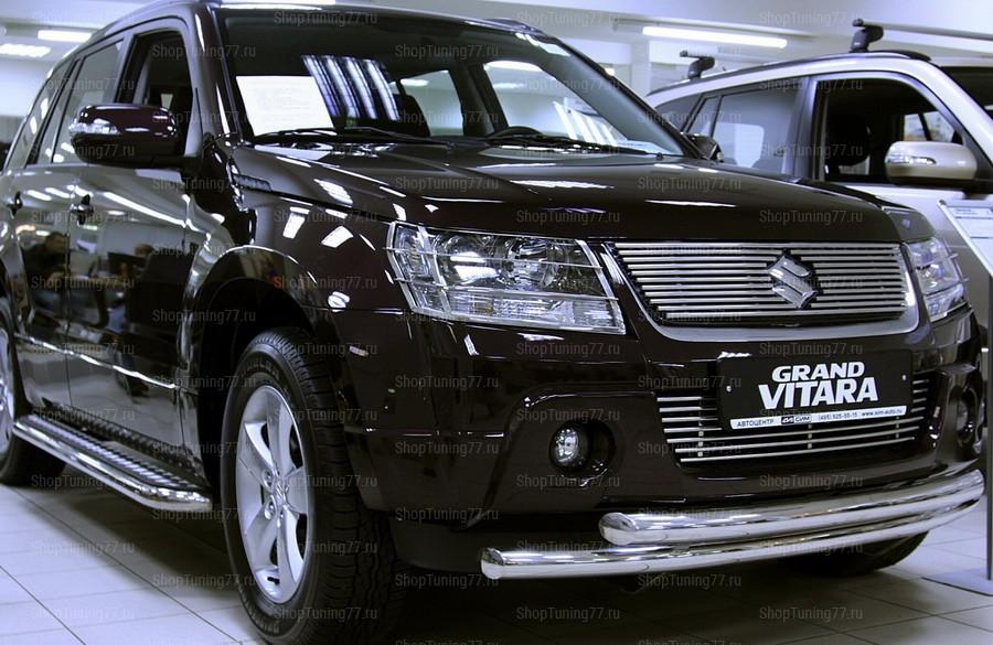Защита передняя (труба двойная) 60 мм Suzuki Grand Vitara (2008-)