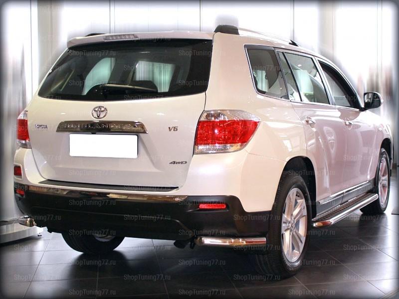 Защита задняя уголки 60 мм Toyota Hightlander (2010-2014)