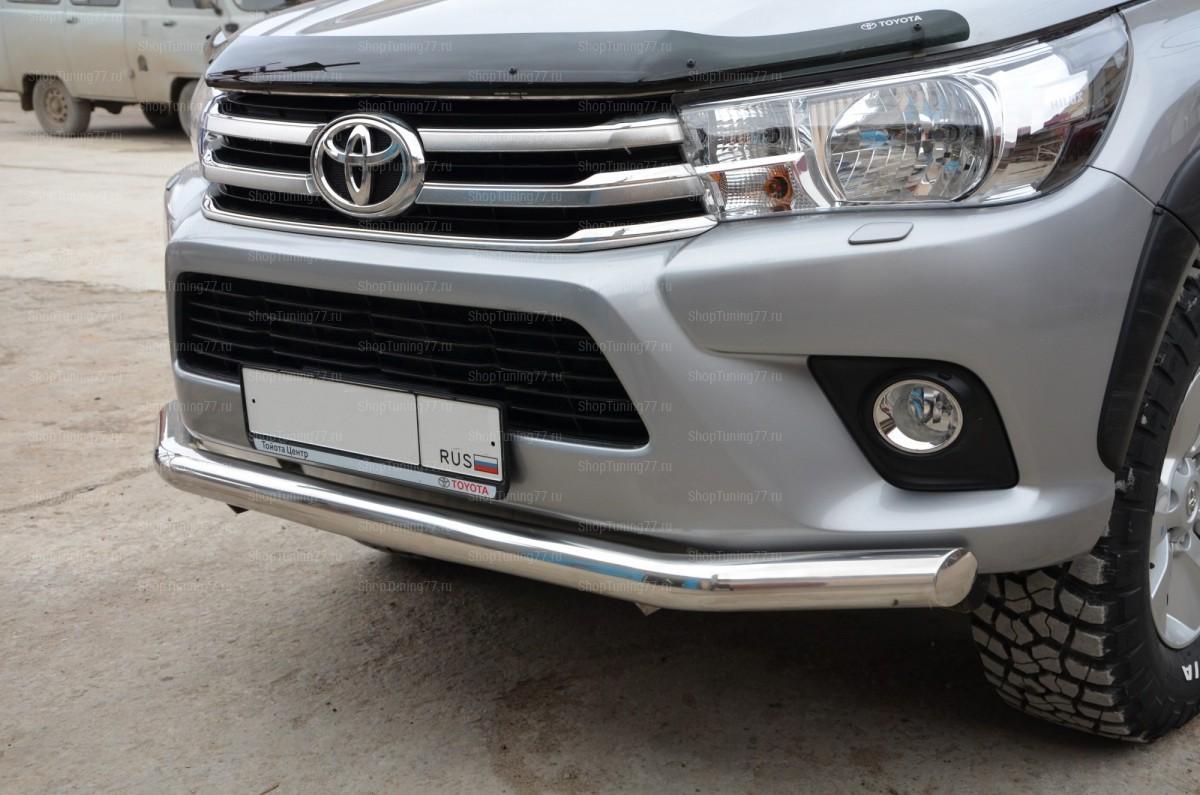Защита переднего бампера 60 мм Toyota Hilux (2015-)