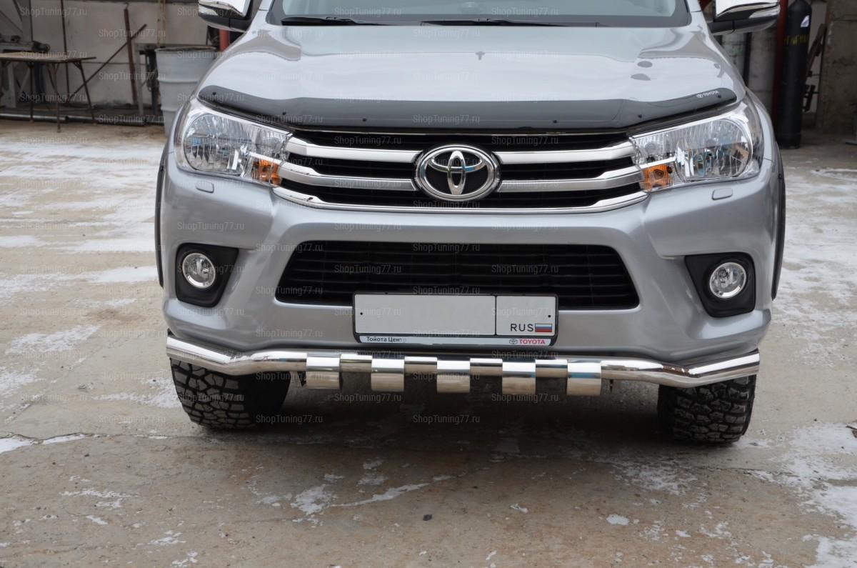Защита переднего бампера волна Грюндик Toyota Hilux (2015-)