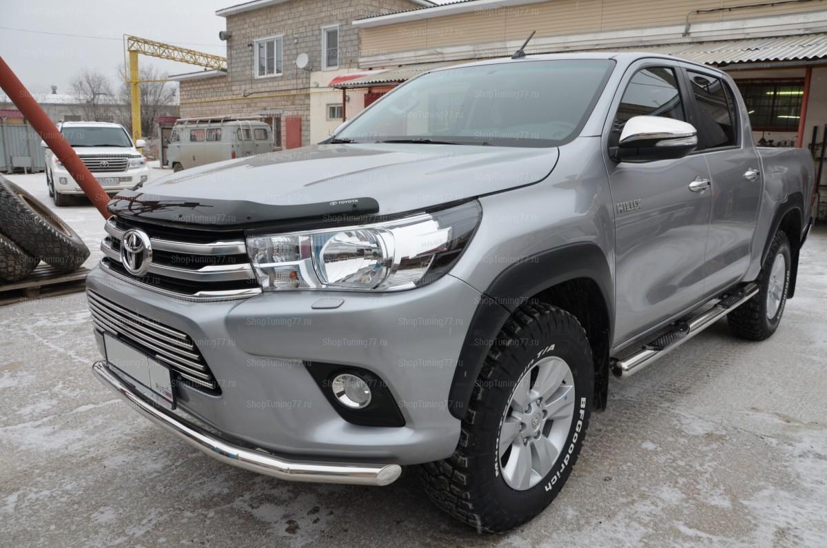 Решетка передняя 16 мм Toyota Hilux (2015-)