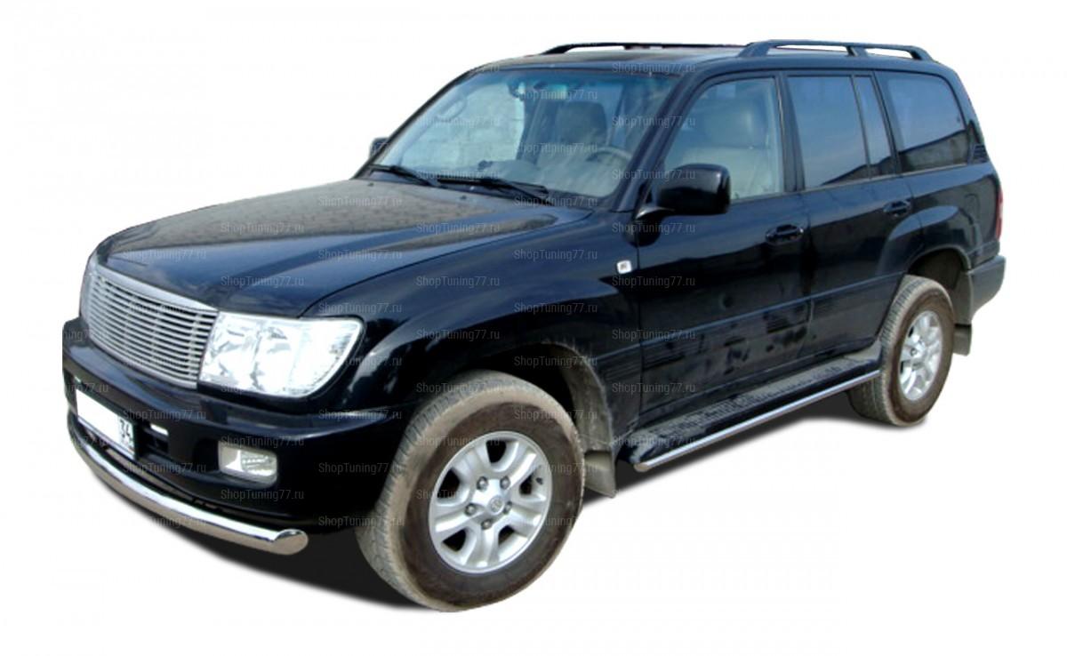 Защита Порогов труба d42 Toyota Land Cruiser 100