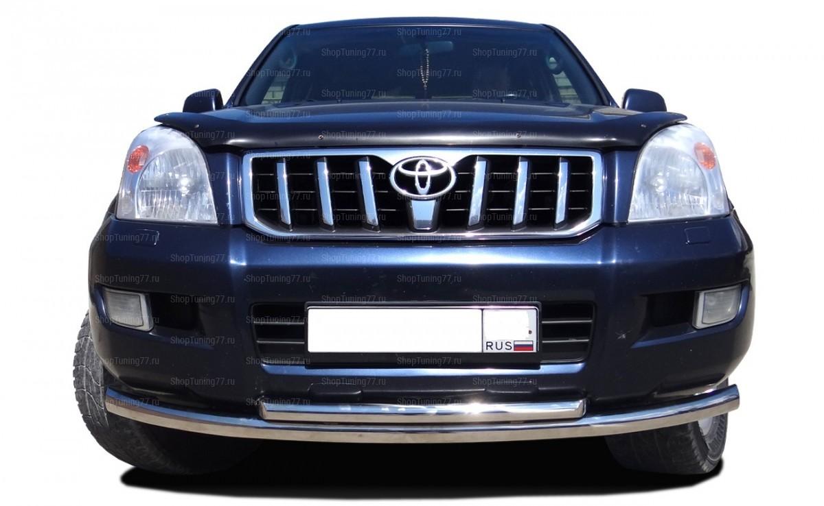 Защита переднего бампера 60/42 мм Toyota Land Cruiser Prado 120