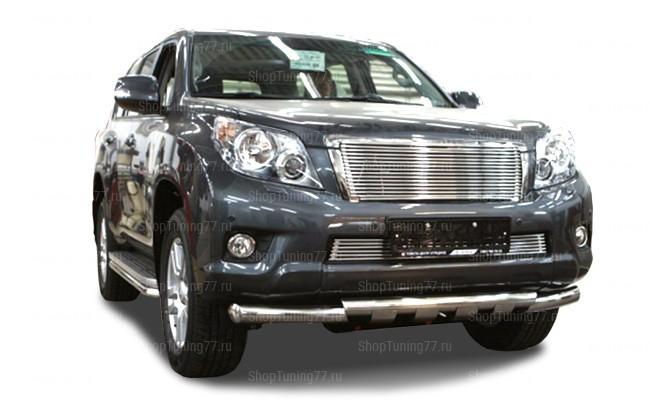 Защита переднего бампера грюндик 76 мм Toyota Land Cruiser Prado 150 (2010-2013)