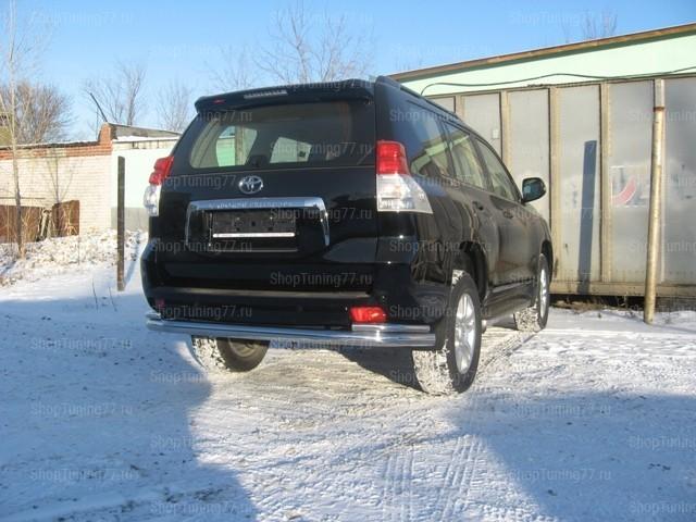 Защита задняя двойная 76-42 мм Toyota Land Cruiser Prado 150 (2010-2013)