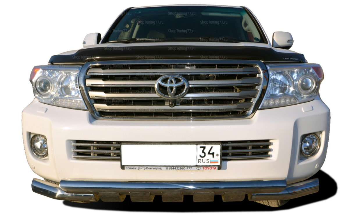 Защита переднего бампера Грюндик 76 мм Toyota Land Cruiser 200 (2012-)