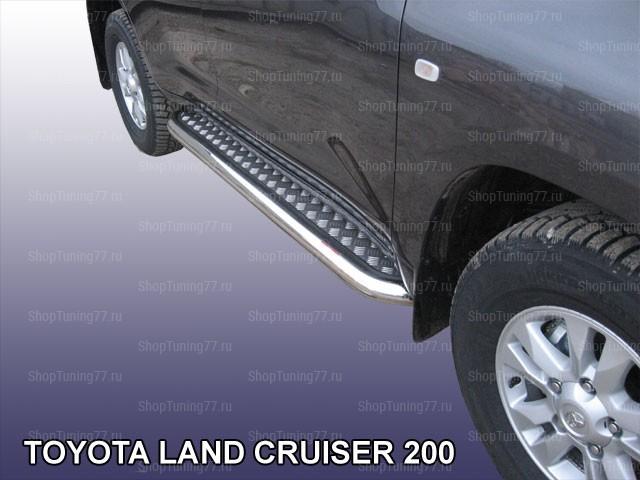 Пороги с листом 76 мм Toyota Land Cruiser 200 (2012-)