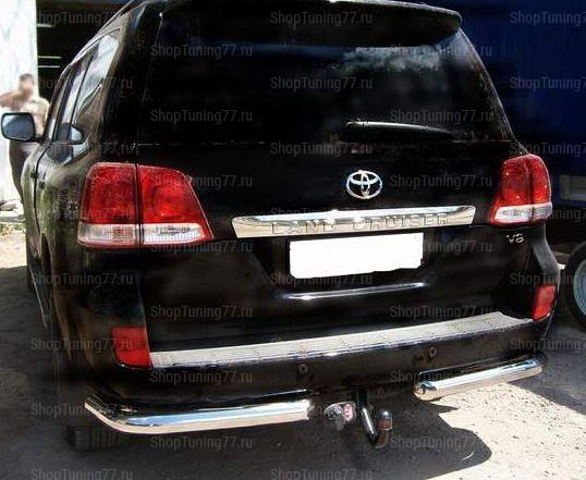 Защита заднего бампера Уголки 76 мм Toyota Land Cruiser 200 (2012-)