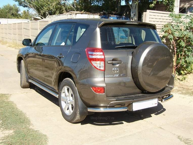 Защита задняя (уголки) 60 мм Toyota RAV 4 (2010-)