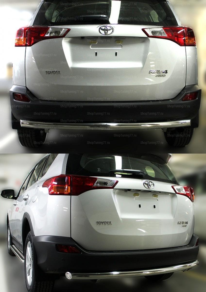 Защита заднего бампера одинарная 60 мм Toyota RAV 4 (2013-)