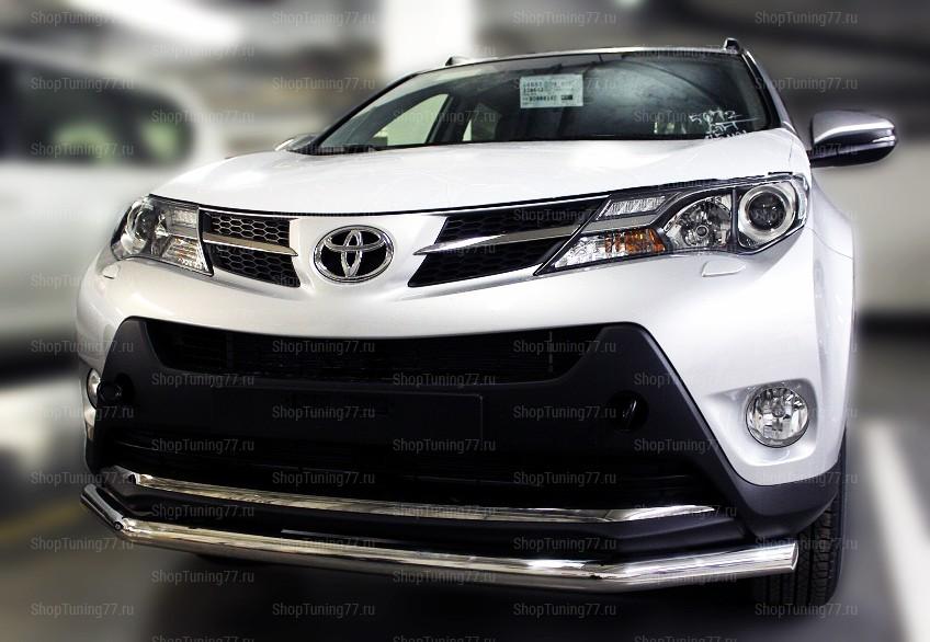 Защита переднего бампера одинарная 60 мм Toyota RAV 4 (2013-)