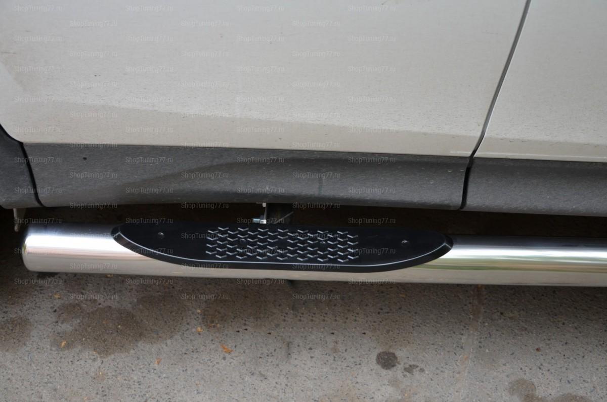 Пороги труба с накладками 76 мм Toyota RAV 4 (2013-)