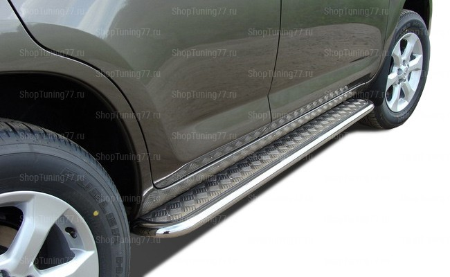 Пороги с площадкой 60 мм Toyota RAV 4L (2010-)