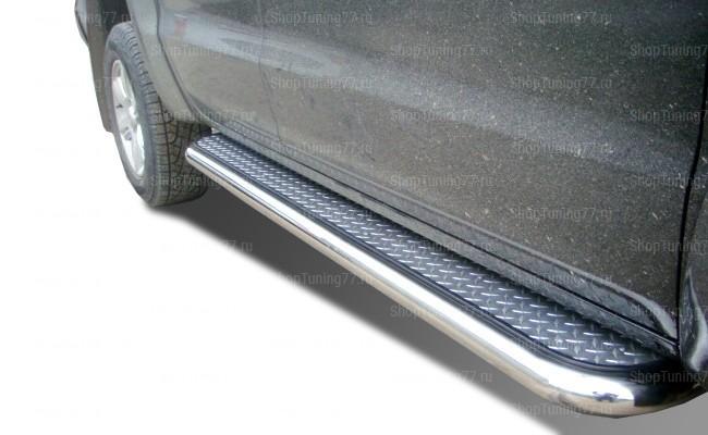 Пороги с площадкой 60 мм Volkswagen Amarok