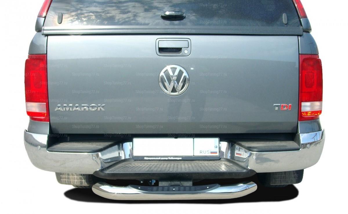 Защита заднего бампера  ступень 76 мм Volkswagen Amarok (2009-)